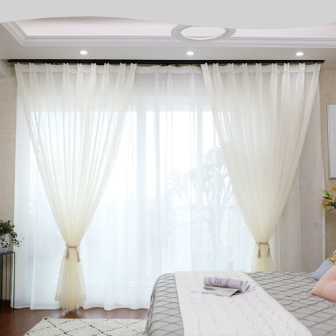 Luxe White Sheer Voile Curtain 2