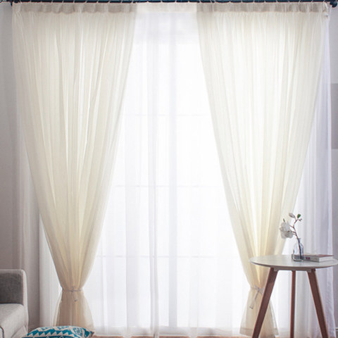 Sheer Curtain Smarties Cream Soft Sheer Voile Curtain 2