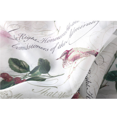 Misty Meadow Rose And Bird Ivory Sheer Voile Curtain 3