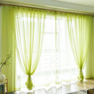Smarties Lime Green Soft Sheer Voile Curtain 3