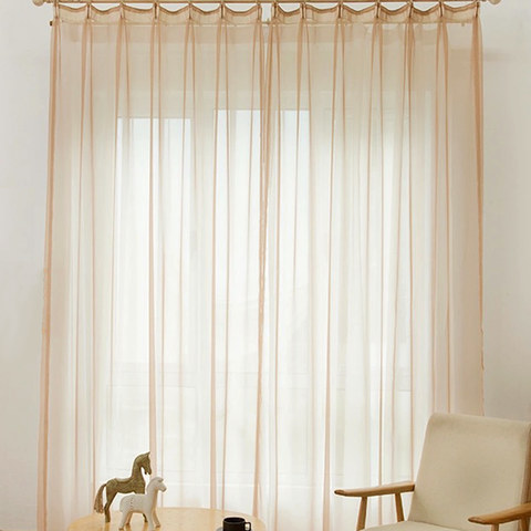 Smarties Sand Beige Soft Sheer Voile Curtain 2
