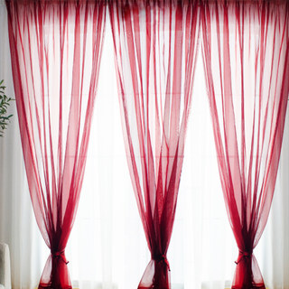 Smarties Burgundy Soft Sheer Voile Curtain 2