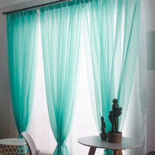 Smarties Turquoise Green Soft Sheer Voile Curtain 2
