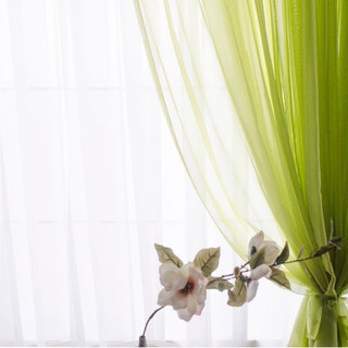 Smarties Lime Green Soft Sheer Voile Curtain 2