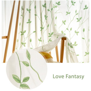 Love Fantasy Green Leaf Voile Curtain 4