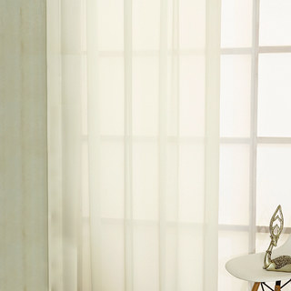 Sheer Curtain Smarties Cream Soft Sheer Voile Curtain 1