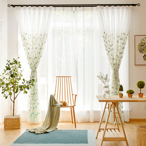 Love Fantasy Green Leaf Voile Curtain 3