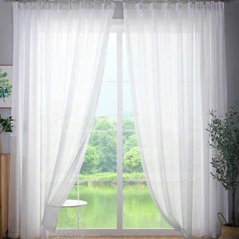 Sheer Curtain Smarties Brilliant White Soft Sheer Voile Curtain 2