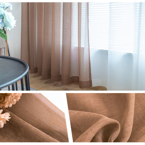 Luxe Coffee Sheer Voile Curtain 7