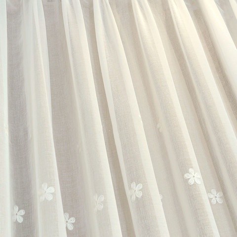 Lined Voile Curtain Touch Of Grace White Embroidered Sheer Curtain 4