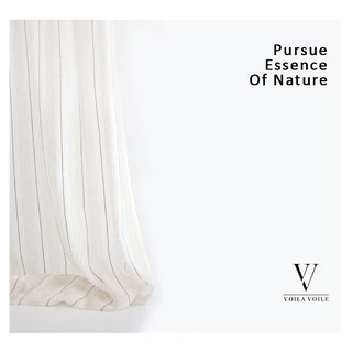 Textured Striped Linen Voile Curtain 6