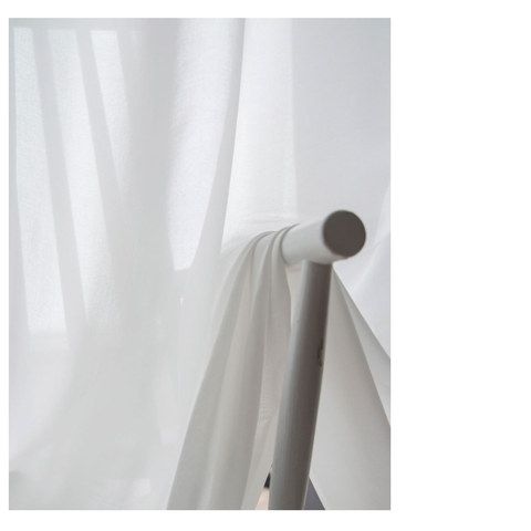 Coconut Soft White Voile Sheer Curtain The Essence Of Nature Design 8