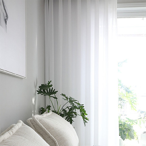 Sheer Curtain Soft Breeze Brilliant White Voile Curtain 3