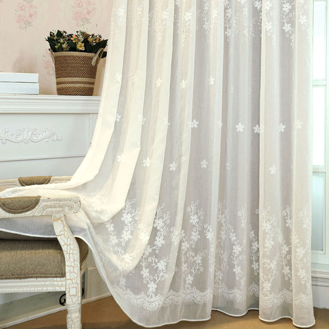 Lined Voile Curtain Touch Of Grace White Embroidered Sheer Curtain 2
