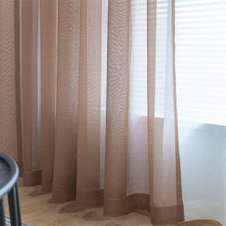 Luxe Coffee Sheer Voile Curtain 4