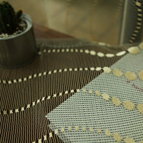 Sparkling Gold Glitter Dots Voile Curtain 4