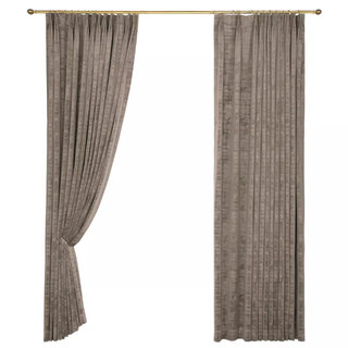 Premium Light Brown Mocha Velvet Curtain 8