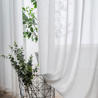 Coconut Soft White Voile Sheer Curtain The Essence Of Nature Design 4
