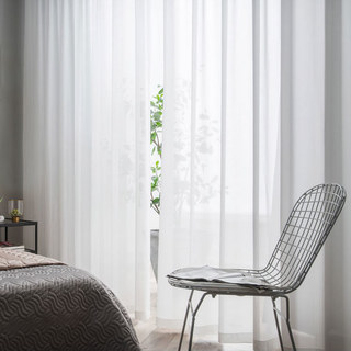 Coconut Soft White Voile Sheer Curtain The Essence Of Nature Design 1