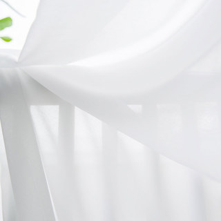 Coconut Soft White Voile Sheer Curtain The Essence Of Nature Design 7