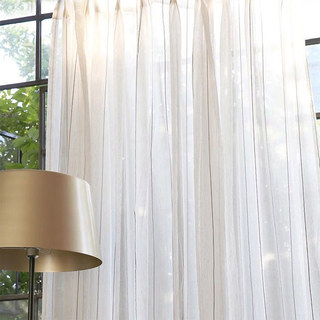 Textured Striped Linen Voile Curtain 2
