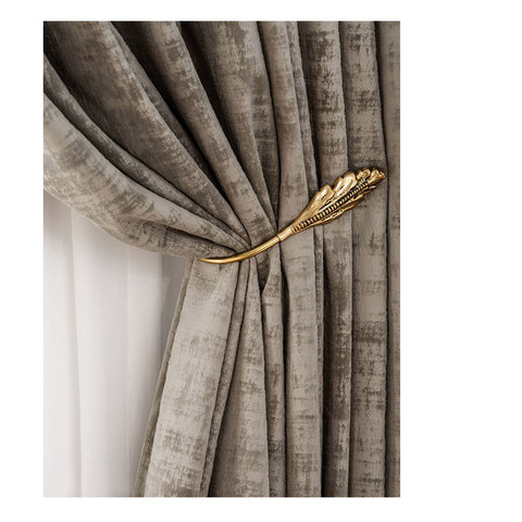 Premium Light Brown Mocha Velvet Curtain 7