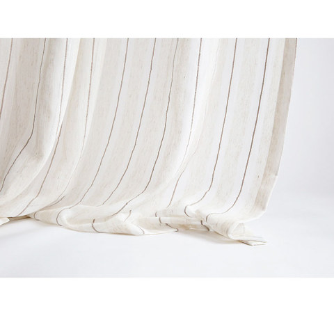 Textured Striped Linen Voile Curtain 5