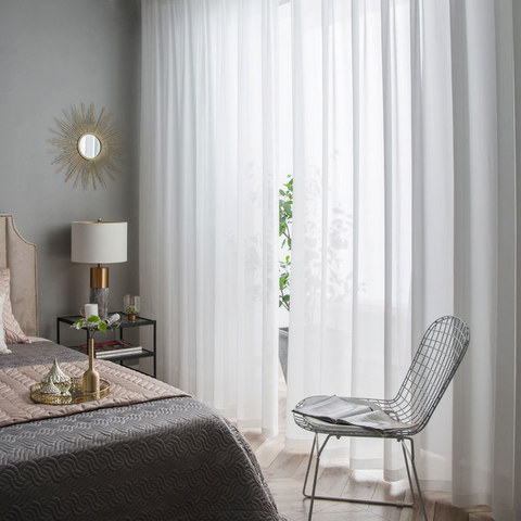 Coconut Soft White Voile Sheer Curtain The Essence Of Nature Design 5