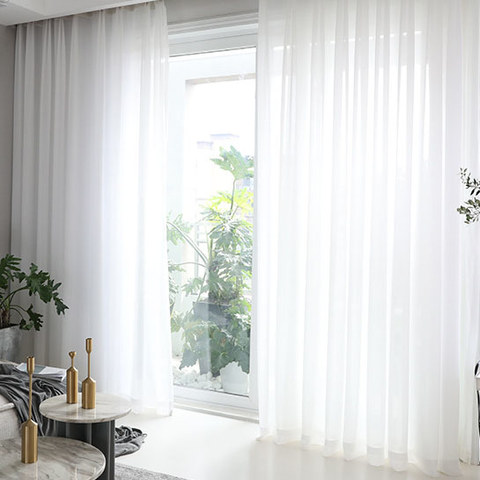 Sheer Curtain Soft Breeze Brilliant White Voile Curtain 1