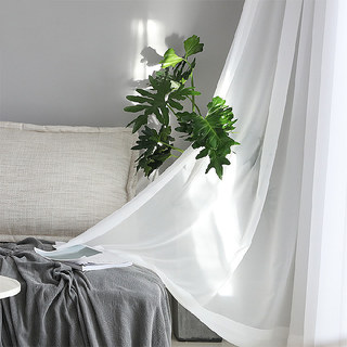 Sheer Curtain Soft Breeze Brilliant White Voile Curtain 5