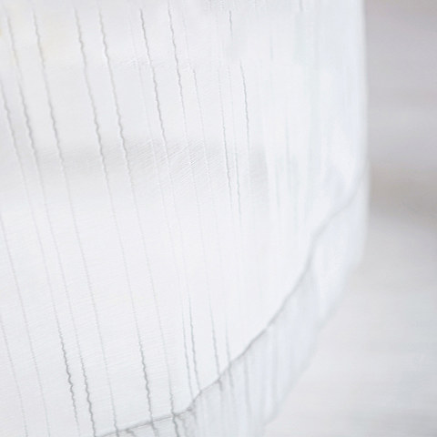 Sheer Curtain The New Neutral White Voile Curtains with Exquisite Striped Texture 8