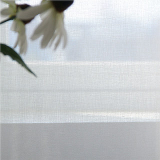 Sheer Curtain The Bright Side White Voile Curtain 7
