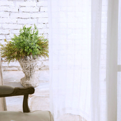 Sheer Curtain Another Fine Mesh White Shimmery Striped Voile Curtain 2
