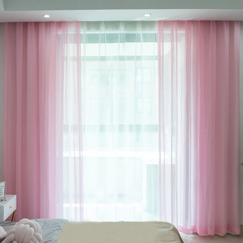 Sheer Curtain Luxe Pink Voile Curtain 3