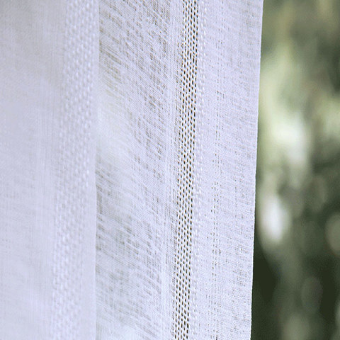 Sheer Curtain Another Fine Mesh White Shimmery Striped Voile Curtain 7