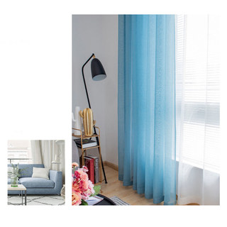 Sheer Curtain Luxe Teal Voile Curtain 4