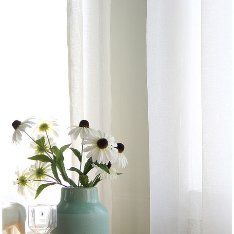 Sheer Curtain The Bright Side White Voile Curtain 6