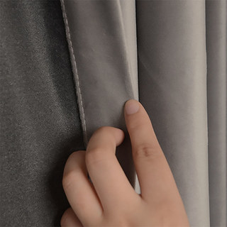 Fine Light Grey Velvet Curtain 3