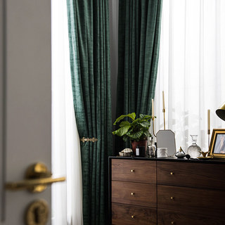 Premium Green Velvet Curtain 4