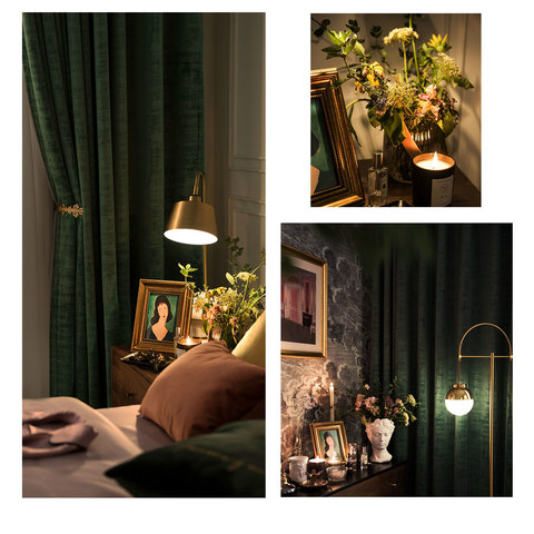 Premium Green Velvet Curtain 8