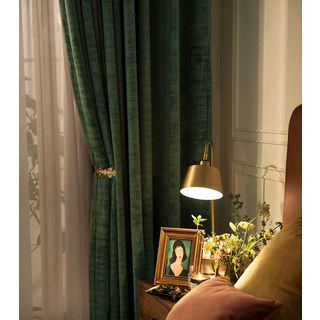 Premium Green Velvet Curtain 7