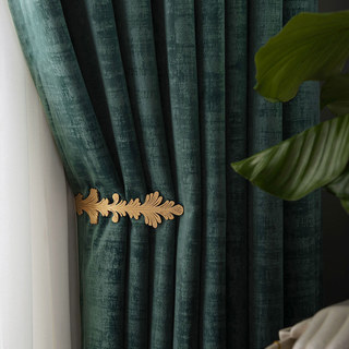 Premium Green Velvet Curtain 1