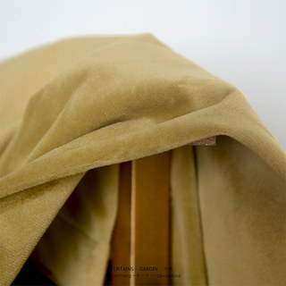 Fine Gold Velvet Curtain 3
