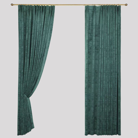 Premium Green Velvet Curtain 9
