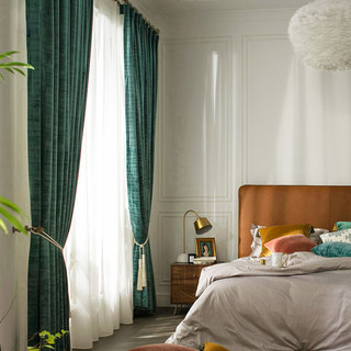 Premium Green Velvet Curtain 3