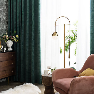 Premium Green Velvet Curtain 5