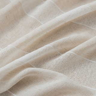 Sheer Curtain Natures Hug Linen Style Strip Voile Curtain 6