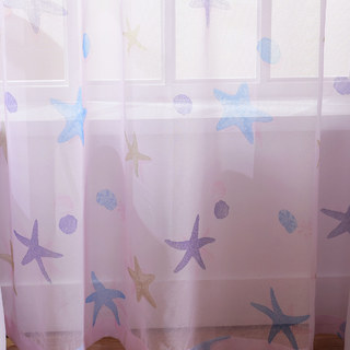 Sheer Curtain Starfish Baby Pink Voile Curtain 1
