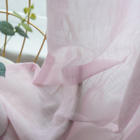 Sheer Curtain A touch of Sunshine Pink Voile Curtain 4