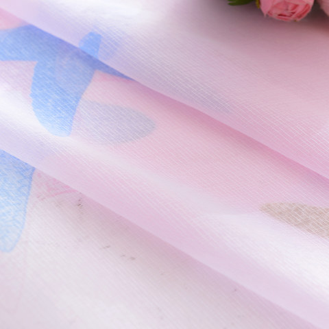 Sheer Curtain Starfish Baby Pink Voile Curtain 4
